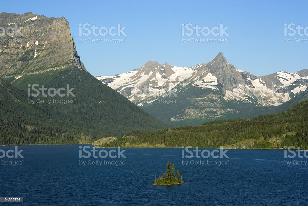 Morning in Glacier National Park royalty-free stock photo