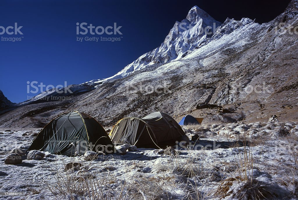 Morning in Himalayas. stock photo