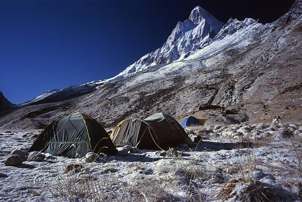 Morning in Himalayas. stock photo