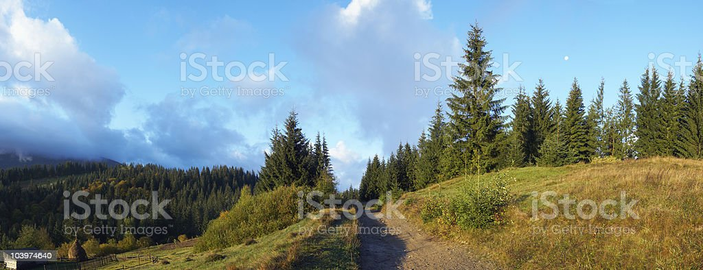 Morning in mountain royalty-free stock photo