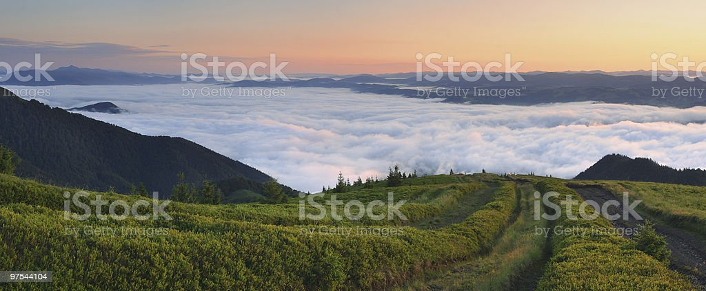 morning in mountains royalty-free stock photo