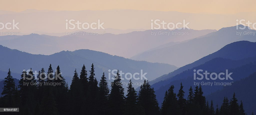 Matin dans les montagnes photo libre de droits