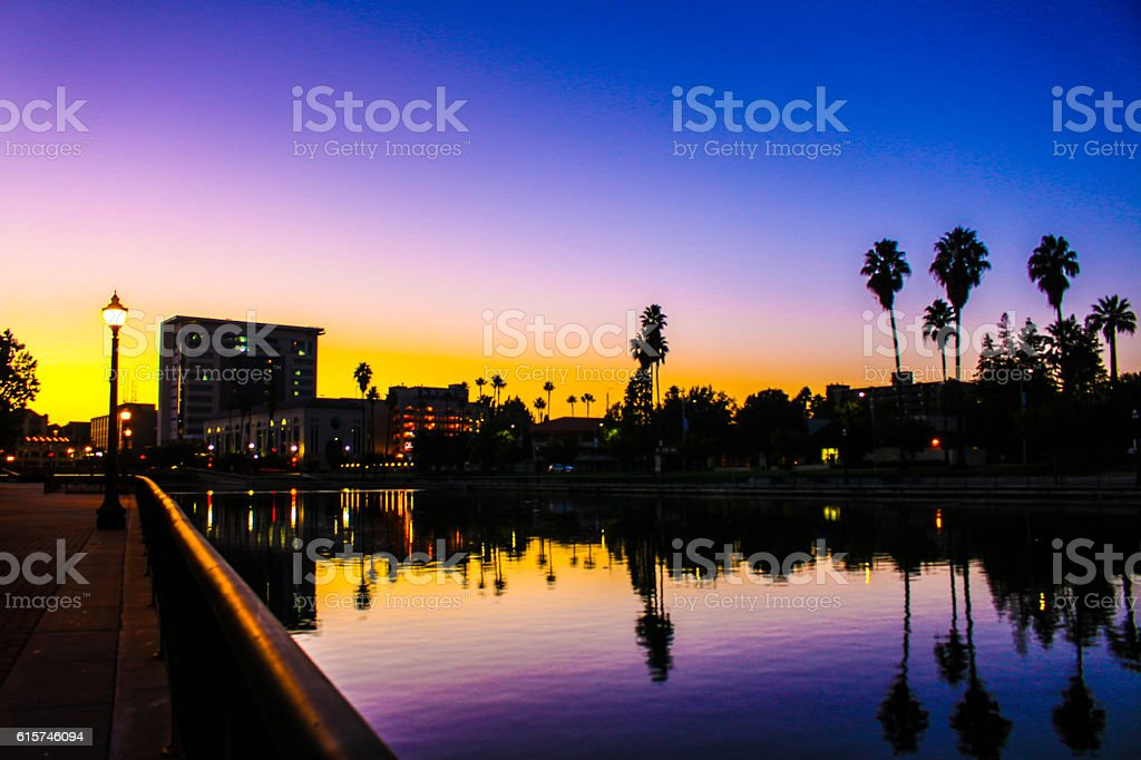 Morning in Stockton stock photo