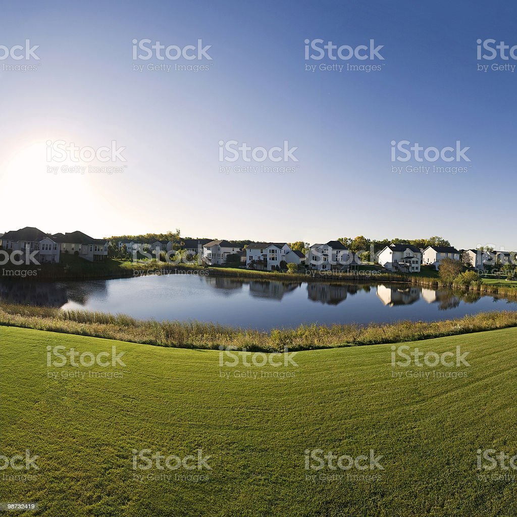 Morning in Suburbia royalty-free stock photo