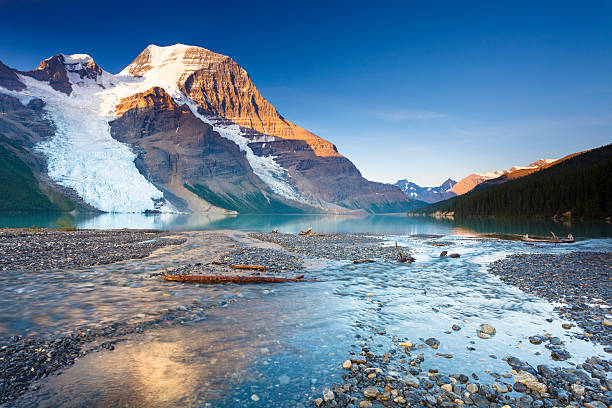 Morning in the Canadian Rockies stock photo