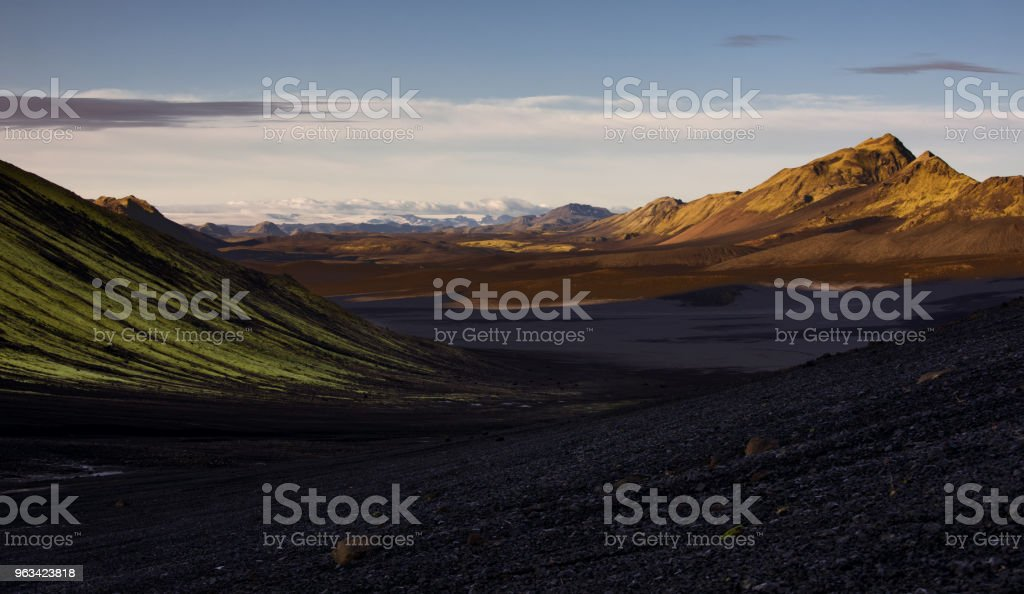 Morning in the highlands of Iceland - Zbiór zdjęć royalty-free (Chmura)
