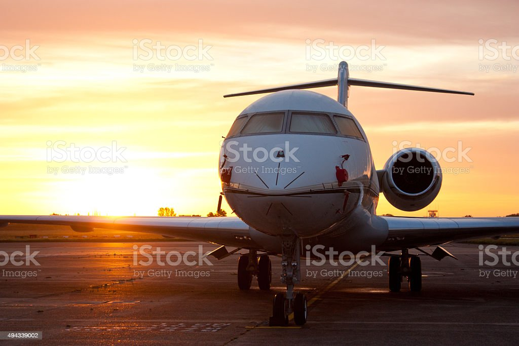 Morning Jetset stock photo