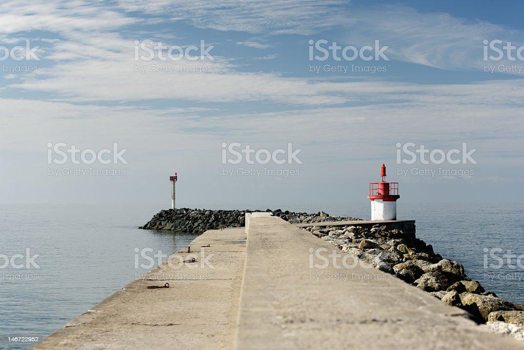 Morning jetty royalty-free stock photo