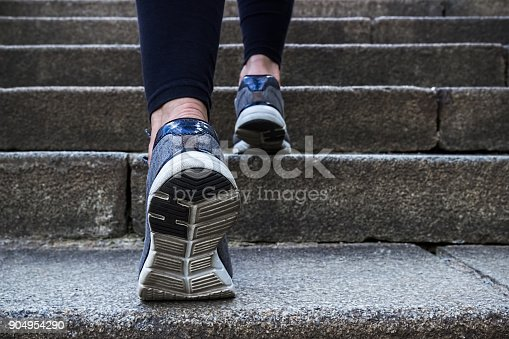 istock Morning jogging young woman outdoors. 904954290