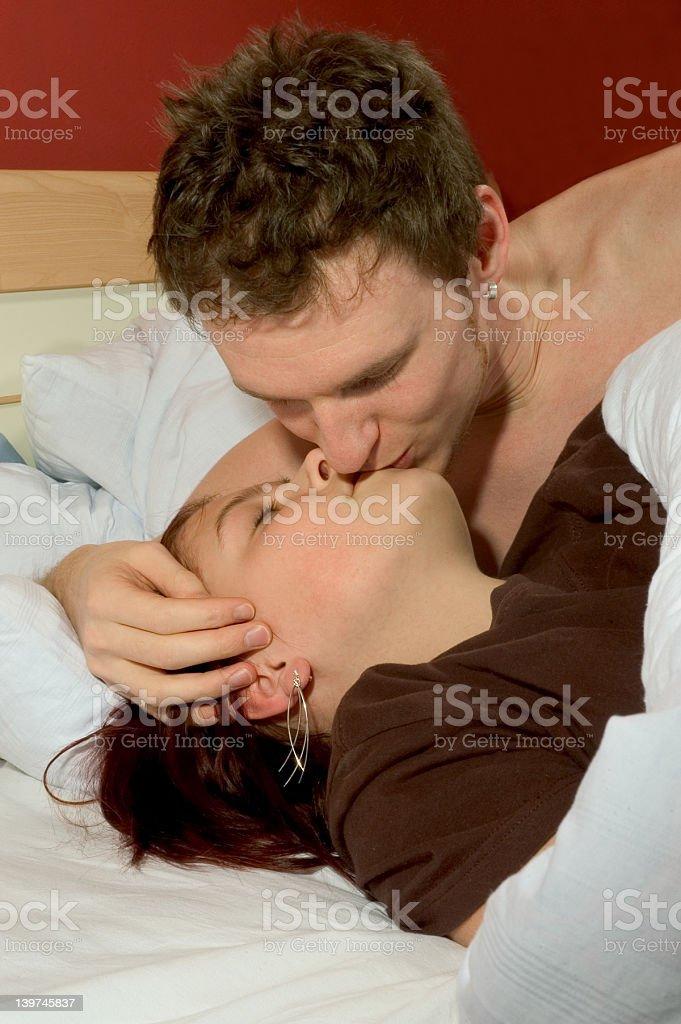 morning kiss royalty-free stock photo