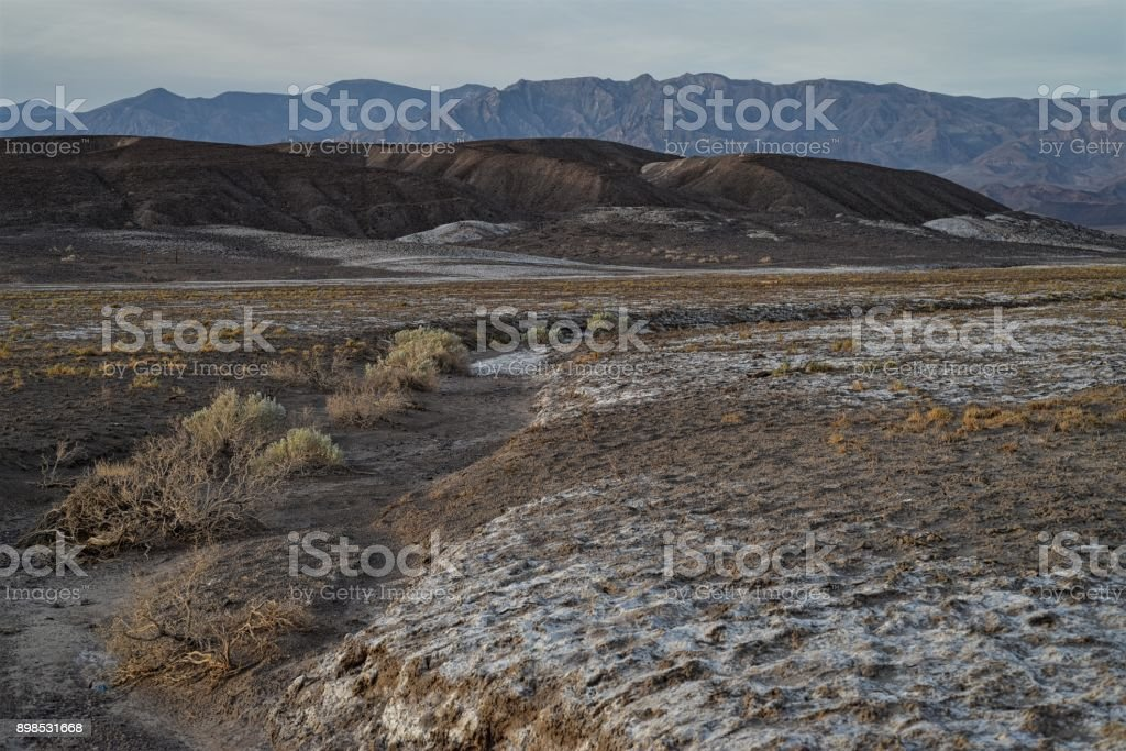 morning landscape Death Valley California near Borax Works stock photo