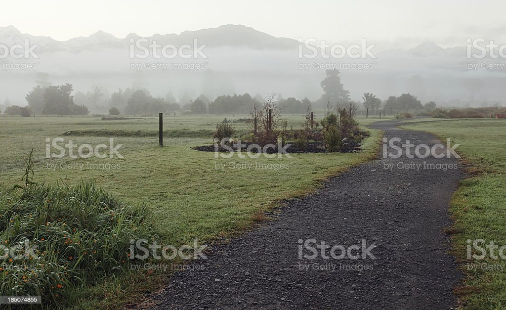Morning landscape, New Zealand stock photo