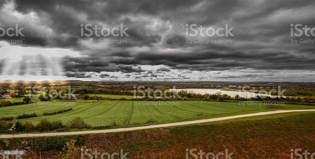 Morning landscape panoramic view. royalty-free stock photo
