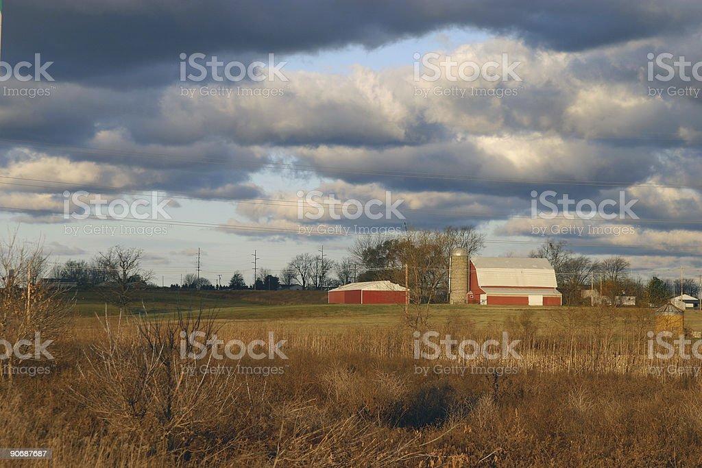 Morning landscape royalty-free stock photo