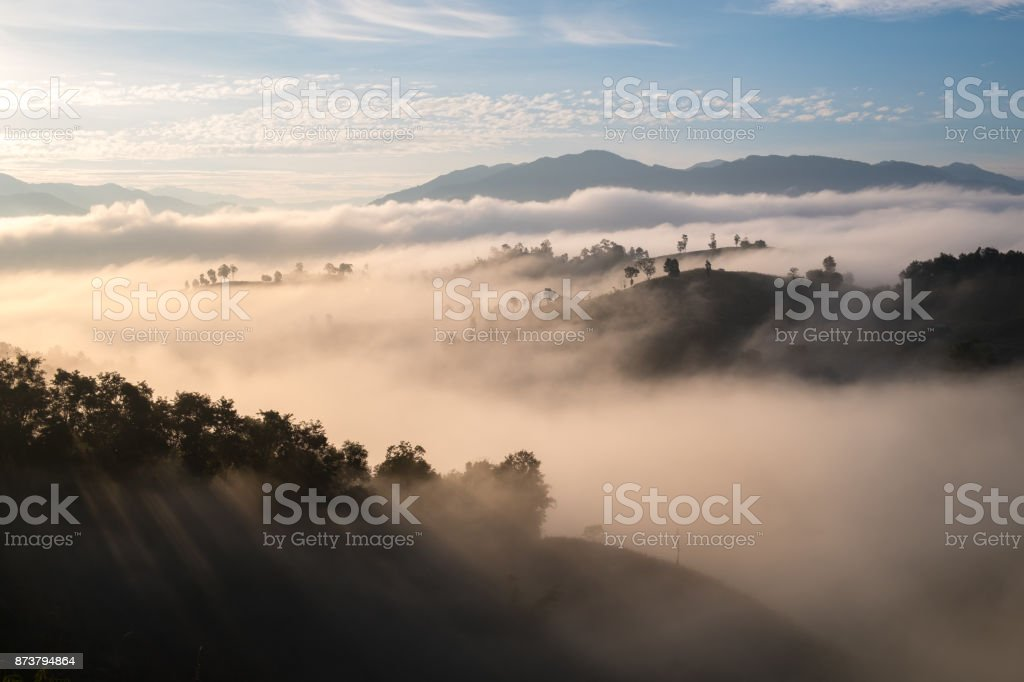 Morning landscape view stock photo
