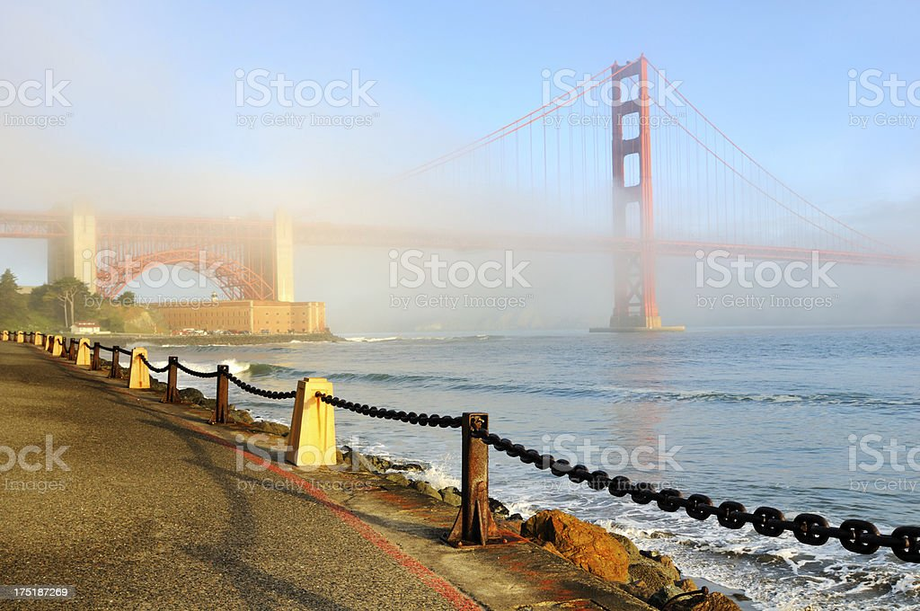 Morning landscape with Golden Gate Bridge, San Francisco, USA royalty-free stock photo
