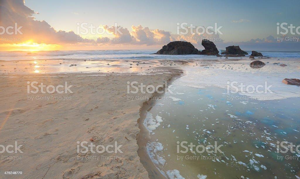 Morning light at Lighthouse Beach Port Macquarie stock photo