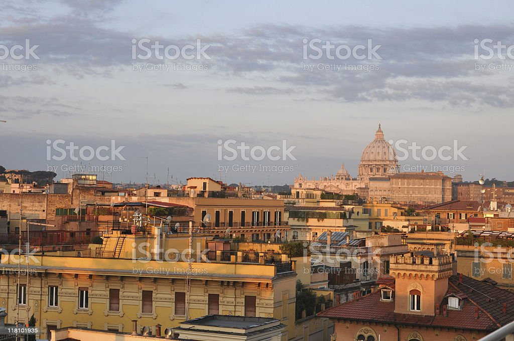 Morning Light in the St. Peter's Basilica royalty-free stock photo
