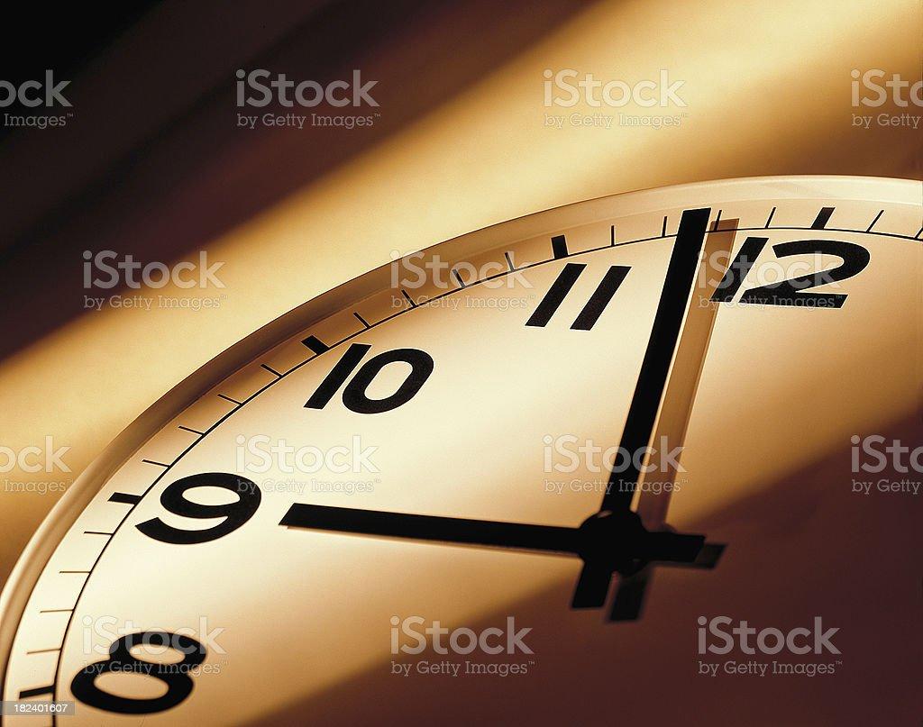 Morning light on clock face