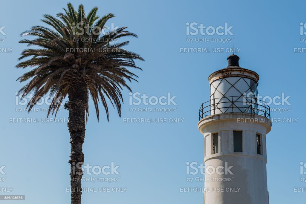 Morning Light on Point Vicente Lighthouse in California stock photo