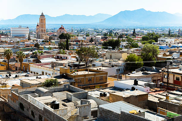 Morning Lights over Saltillo Morning Lights over Saltillo coahuila state stock pictures, royalty-free photos & images