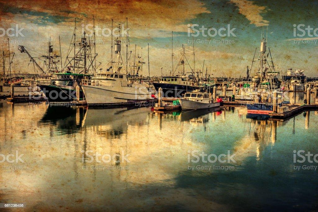 Morning Marina (Canvas) stock photo
