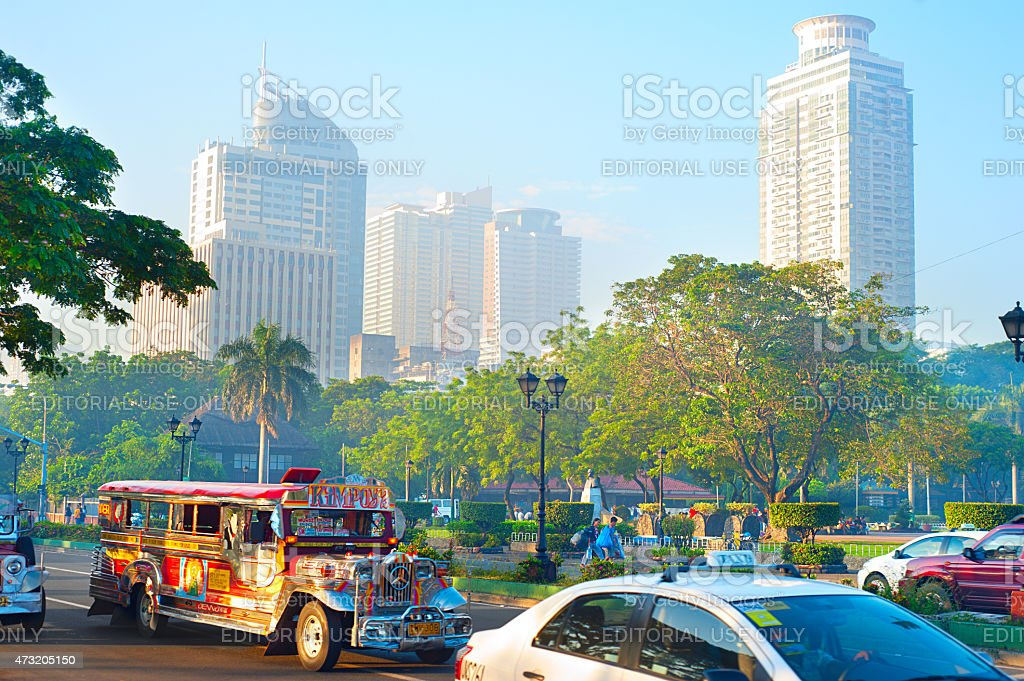 Morning Metro Manila stock photo
