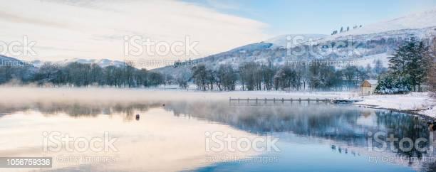 Photo of Morning mist on Loch Earn in winter