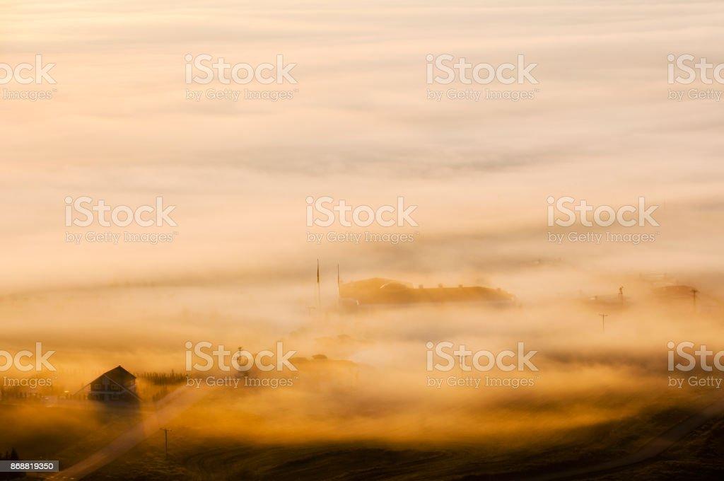 Sabah sis stok fotoğrafı