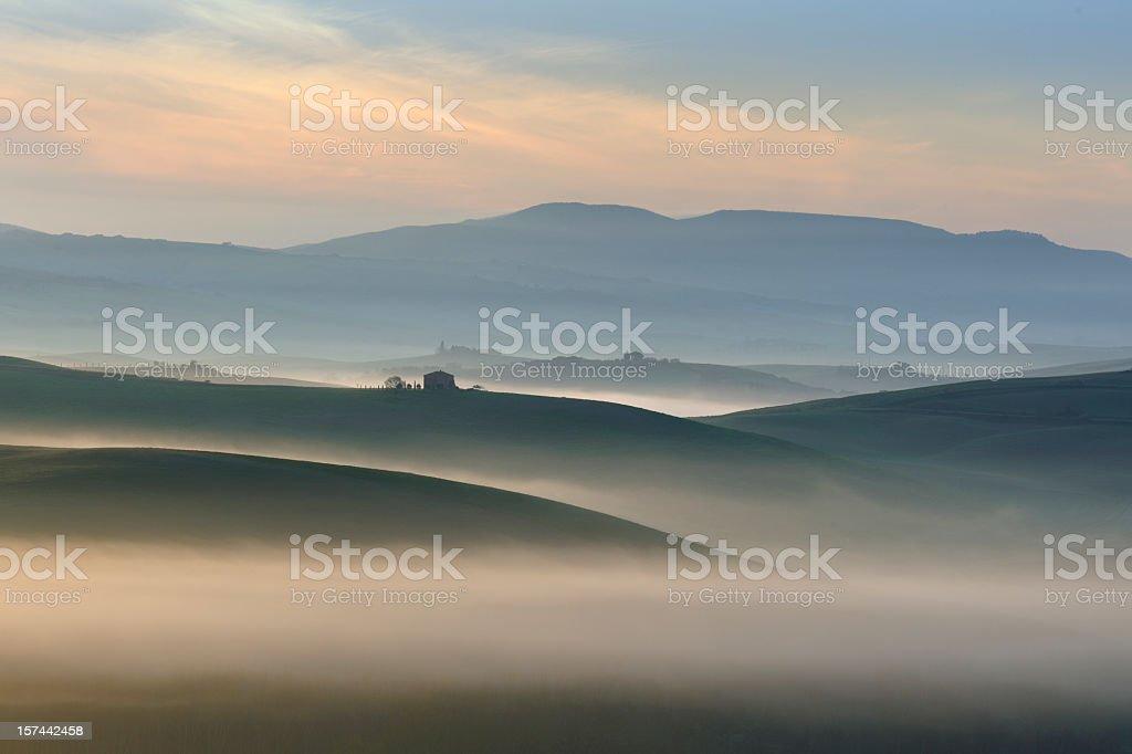 Morning Mist, Tuscany royalty-free stock photo