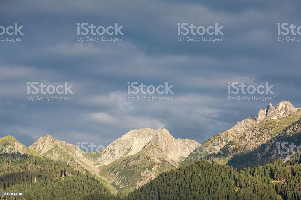 Morning mood in the Lechtal Alps stock photo