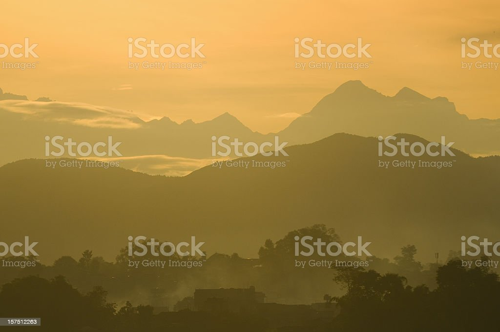 Morning mountain sunrise royalty-free stock photo