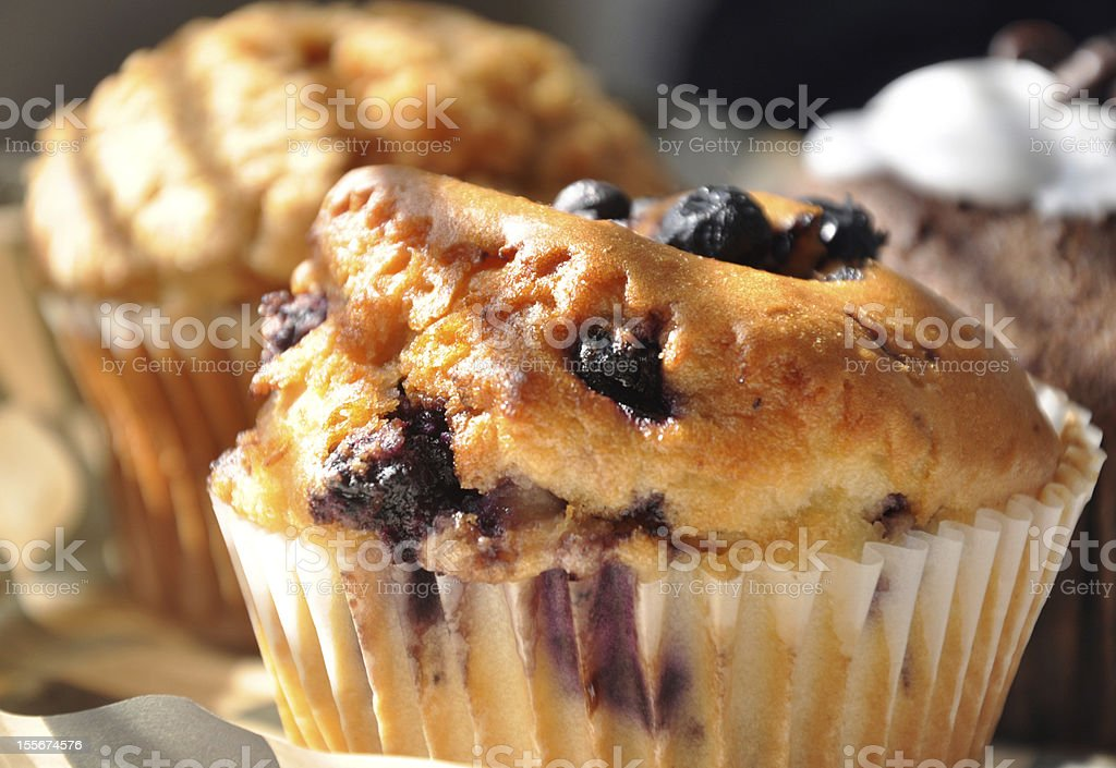 Morning muffins stock photo