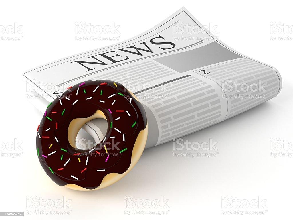 Morning news royalty-free stock photo