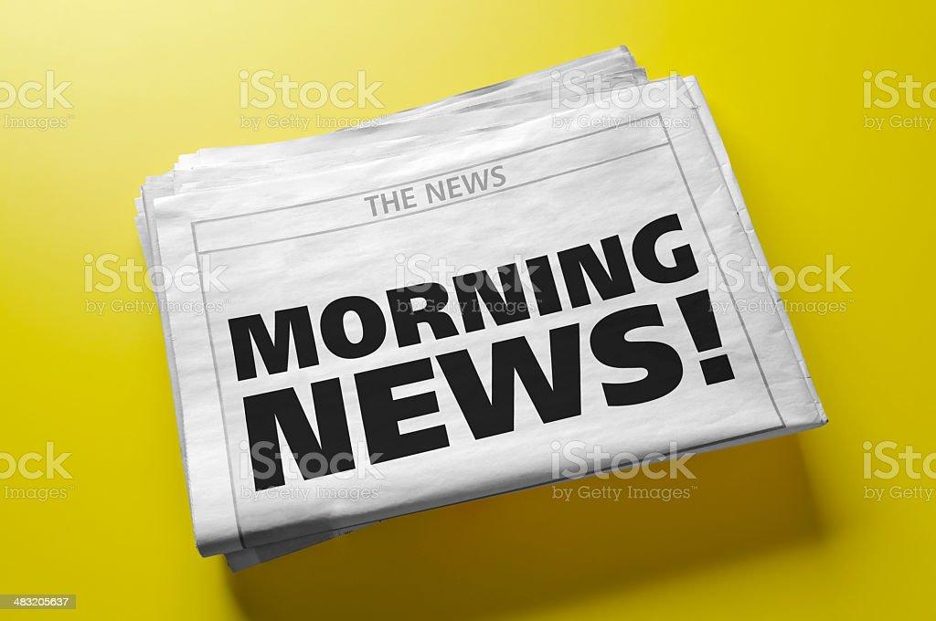 Morning News! royalty-free stock photo