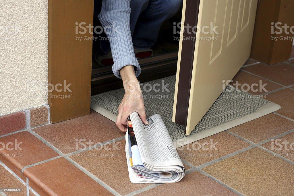 Poranna gazety zbiór zdjęć royalty-free