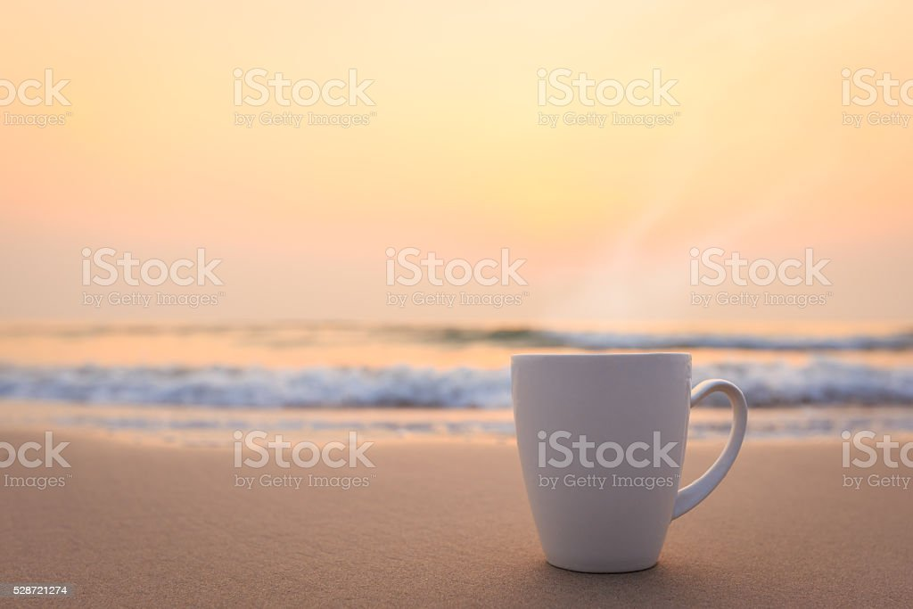Morning of cup stock photo