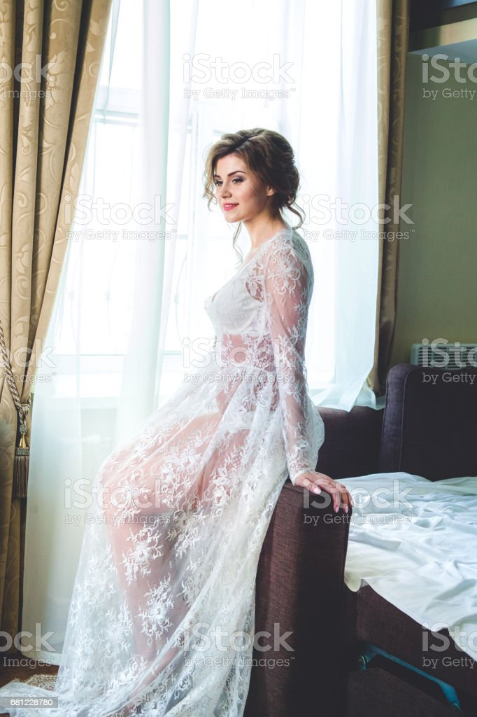 Morning of the bride royalty-free stock photo