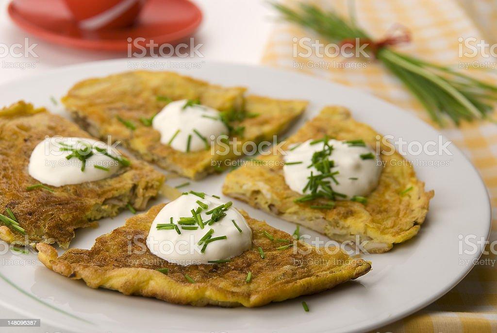 Morning omlet stock photo