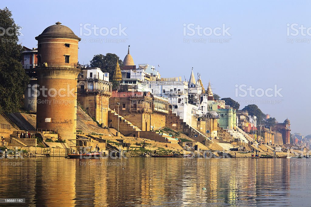morning on ganges royalty-free stock photo