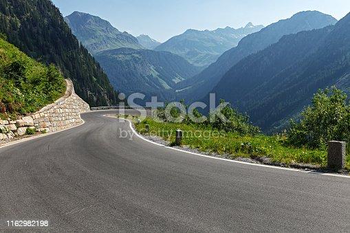 istock Morning on Silvretta-Bielerhohe High Alpine Road in Vorarlberg, Austria. 1162982198