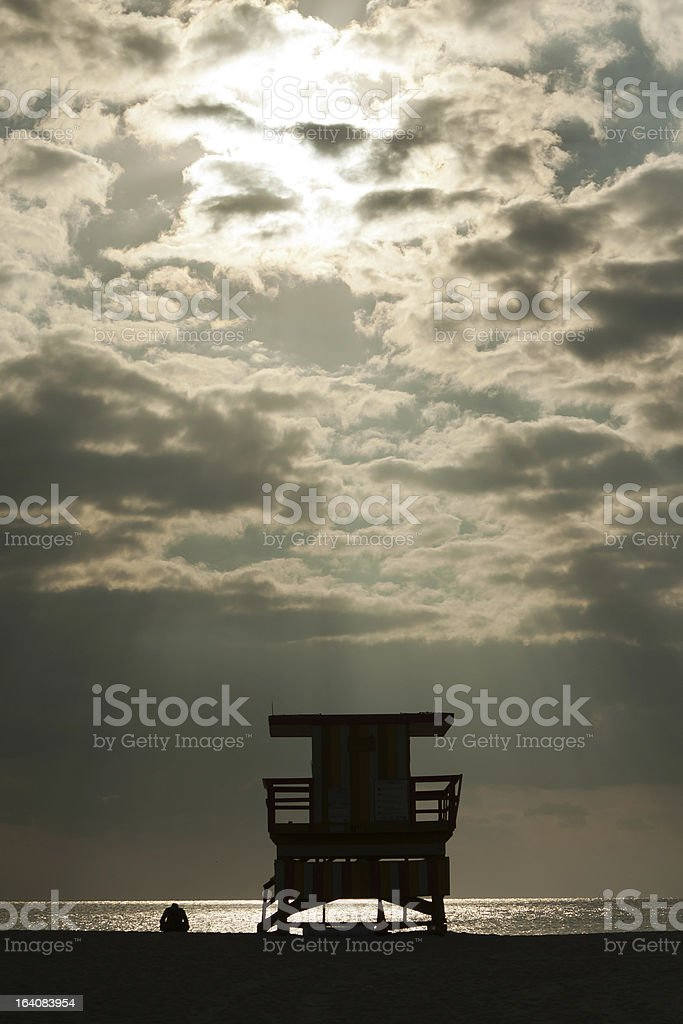Morning on South Beach royalty-free stock photo