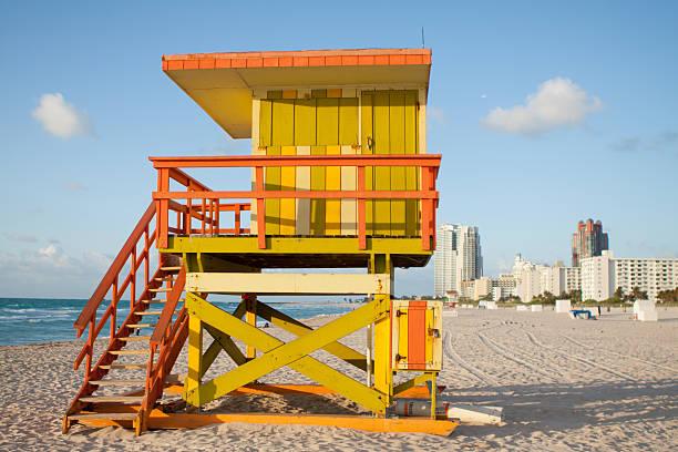 Morning on South Beach stock photo