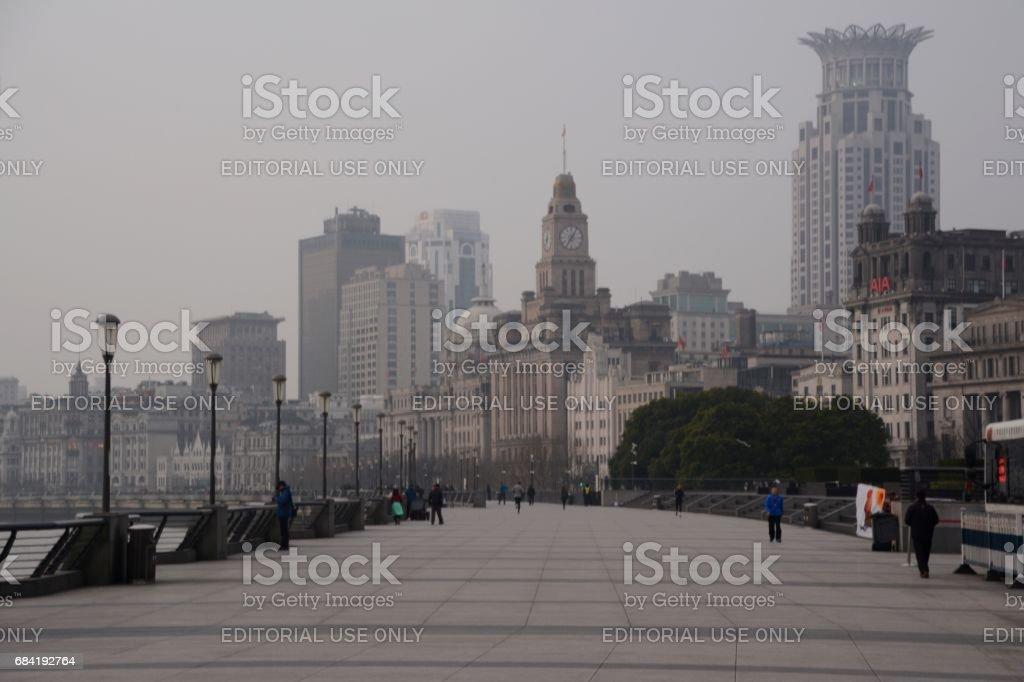 Morning on the Bund, Shanghai, China royalty-free stock photo