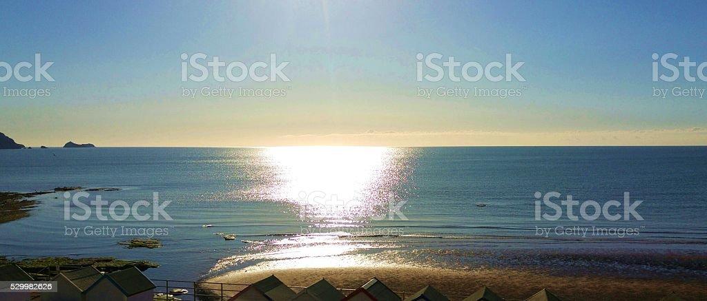 Morning on the coast stock photo