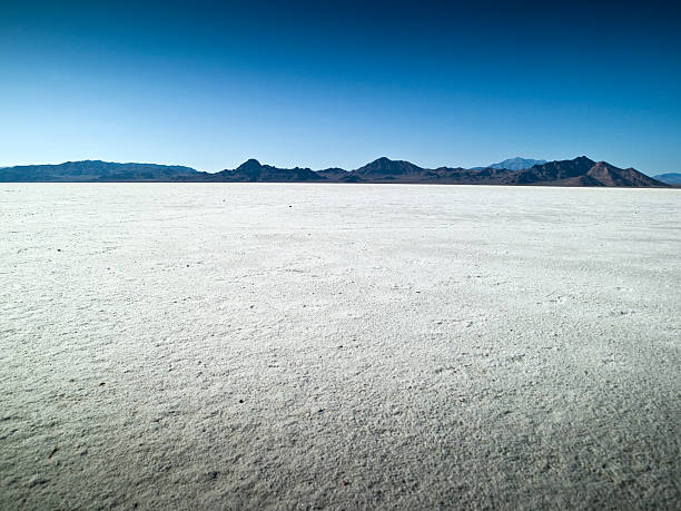Morning on the flats in UT  bonneville salt flats stock pictures, royalty-free photos & images