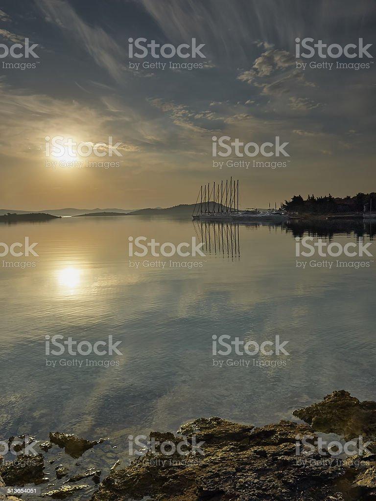 Morning on the Island stock photo
