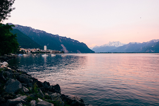Morning on the Montreux quay