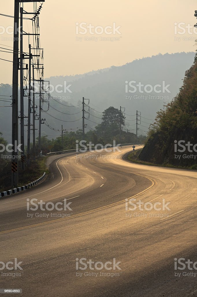 Morning on the road. royalty-free stock photo