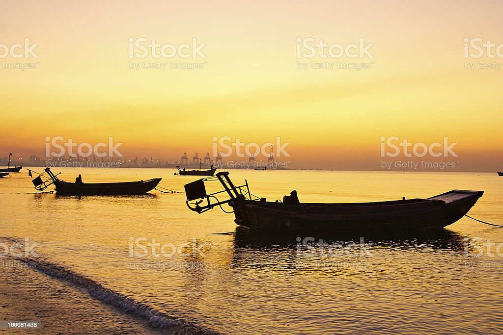 Morning on the yellow sea. royalty-free stock photo